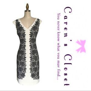 Maggie of London Black & Cream Sheath Dress